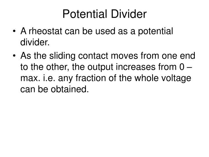 Potential Divider