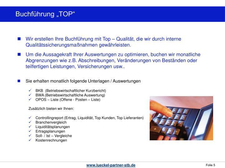 """Buchführung """"TOP"""""""