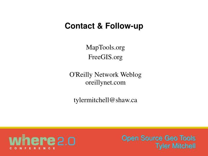 Contact & Follow-up
