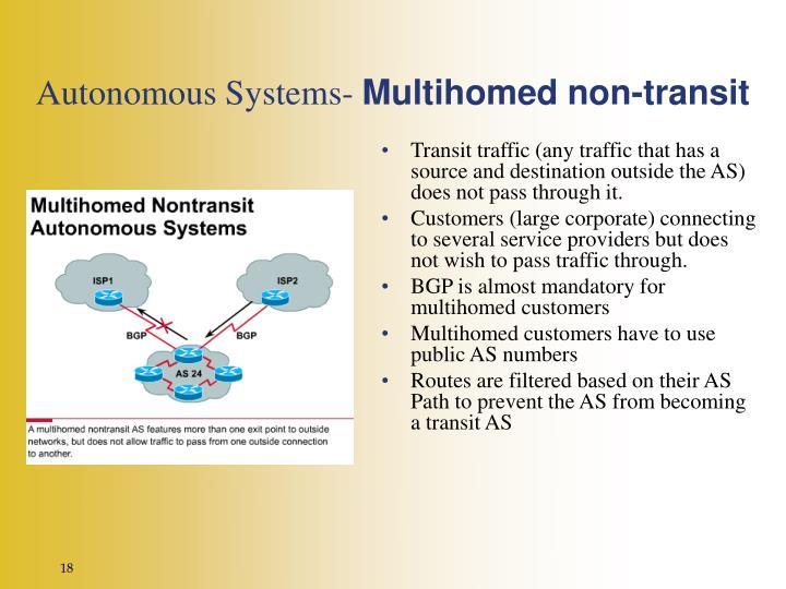 Autonomous Systems-