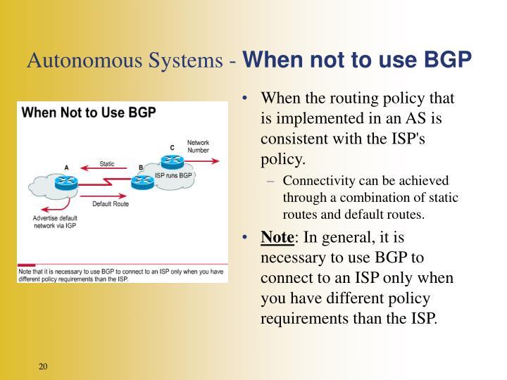 Autonomous Systems -