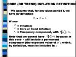 core or trend inflation definition