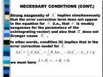 necessary conditions cont5