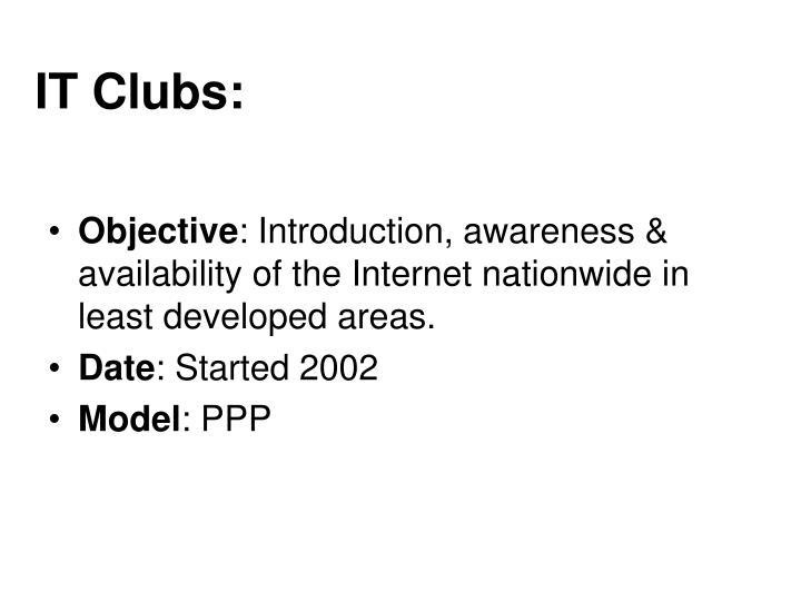 IT Clubs: