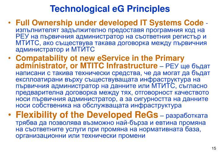 Technological eG Principles