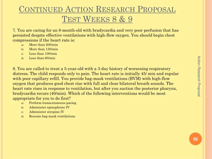 Continued Action Research Proposal