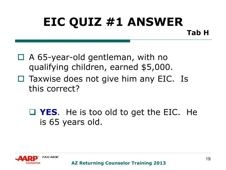 EIC QUIZ #1 ANSWER