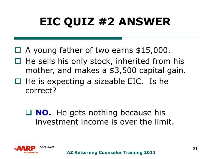EIC QUIZ #2 ANSWER