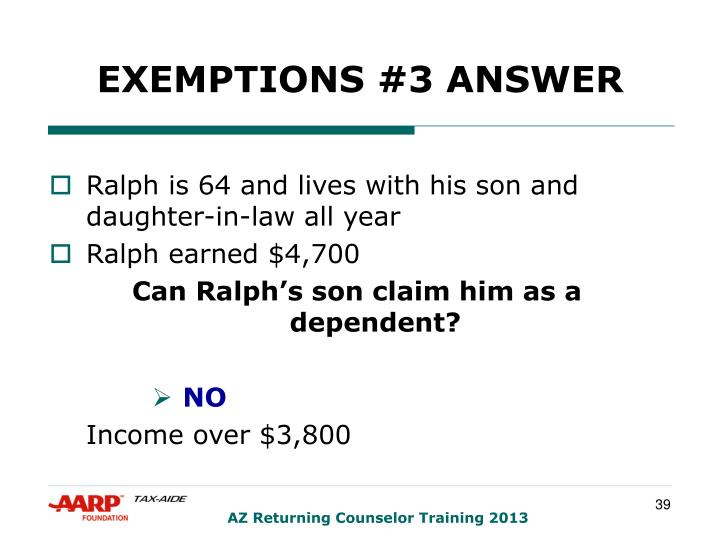 EXEMPTIONS #3 ANSWER