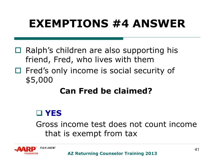 EXEMPTIONS #4 ANSWER