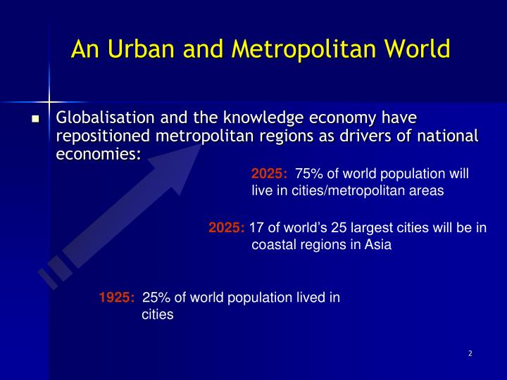 An Urban and Metropolitan World
