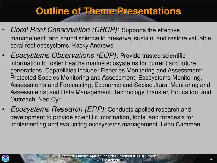 Outline of Theme Presentations