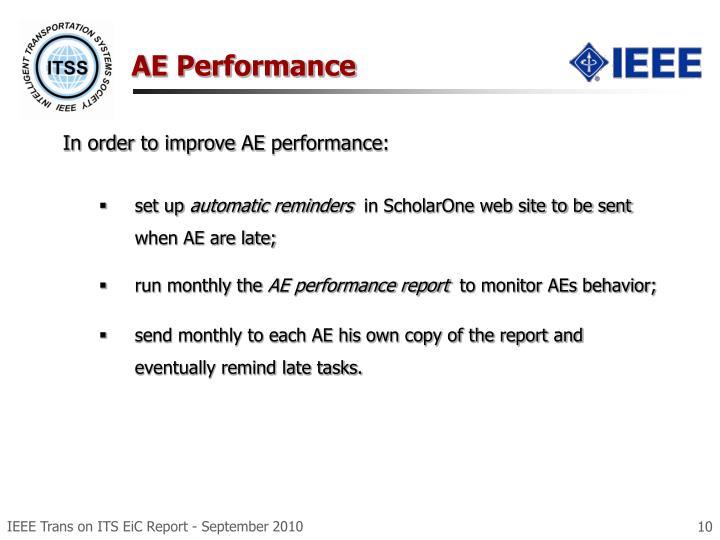 AE Performance