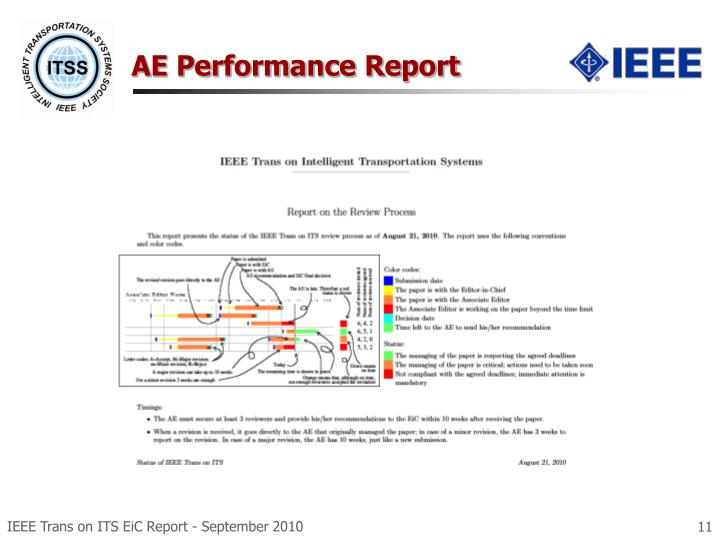 AE Performance Report