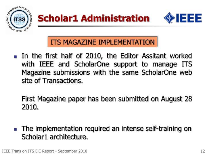 Scholar1 Administration