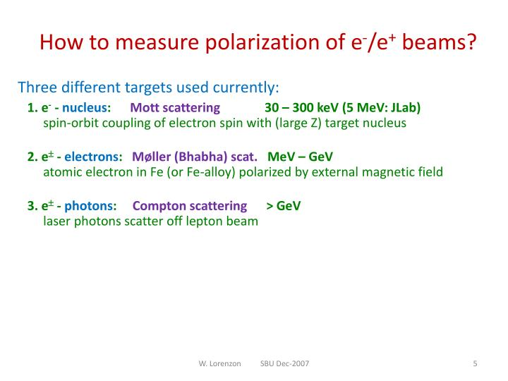 How to measure polarization of e
