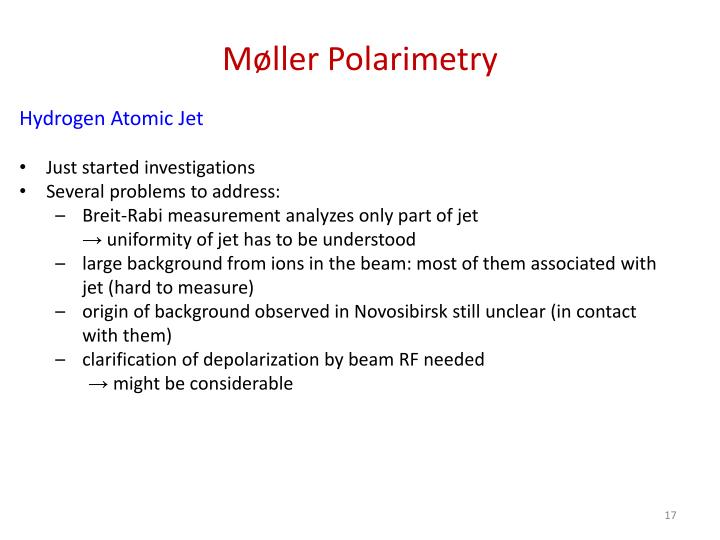 Møller Polarimetry