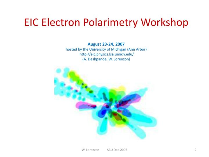 EIC Electron Polarimetry Workshop