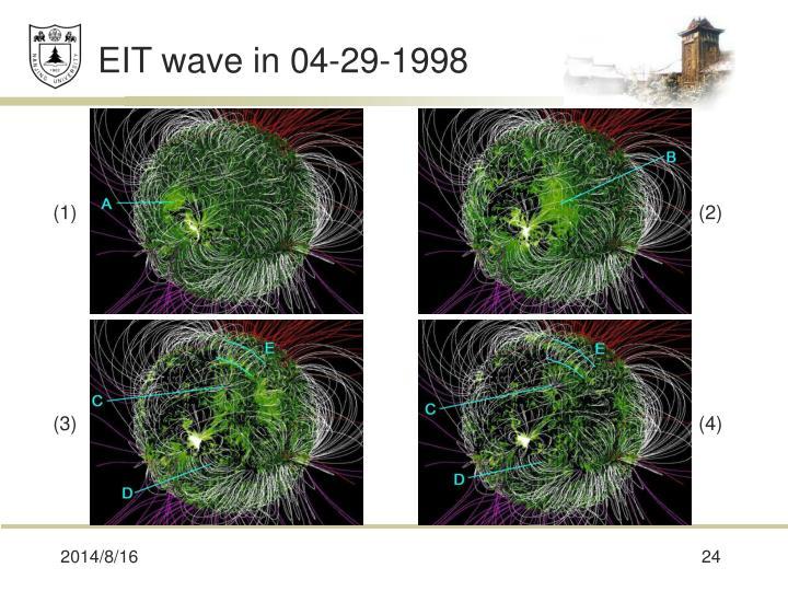 EIT wave in 04-29-1998