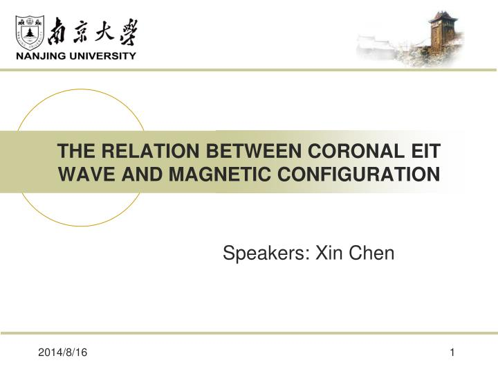 The relation between coronal eit wave and magnetic configuration