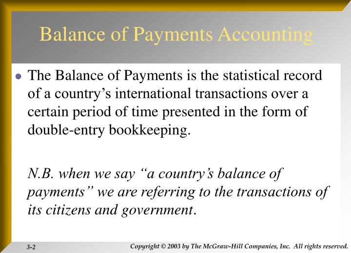 Balance of payments accounting