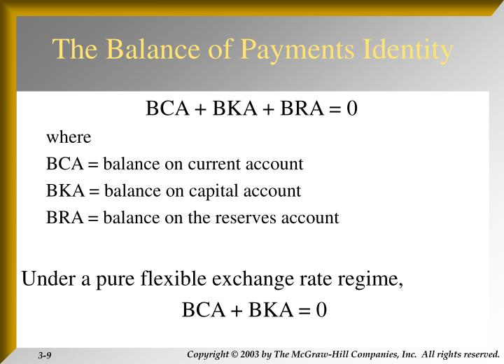 The Balance of Payments Identity