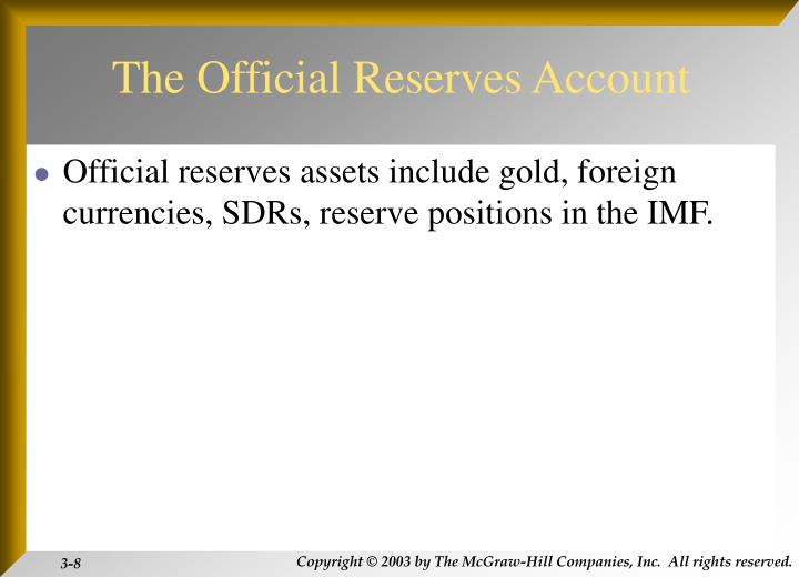 The Official Reserves Account