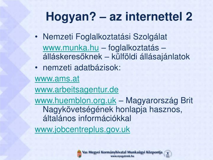 Hogyan? – az internettel 2