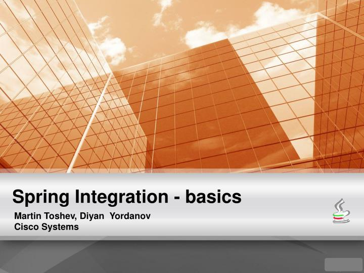 Spring Integration - basics