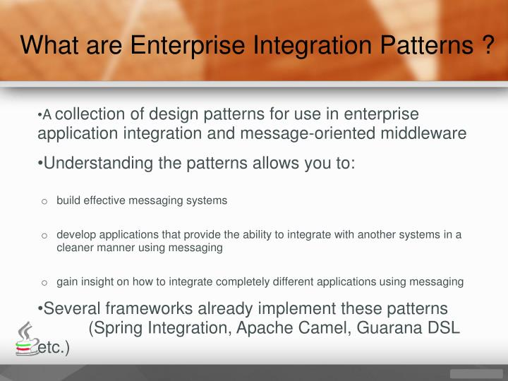 What are Enterprise Integration Patterns ?