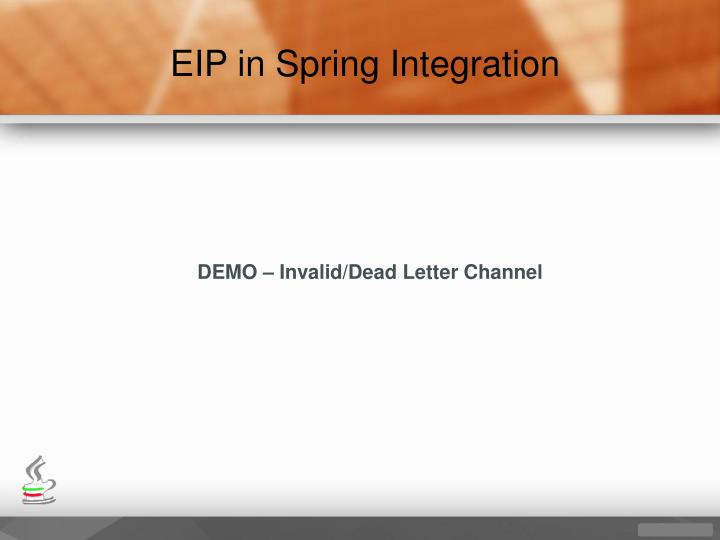 EIP in Spring Integration