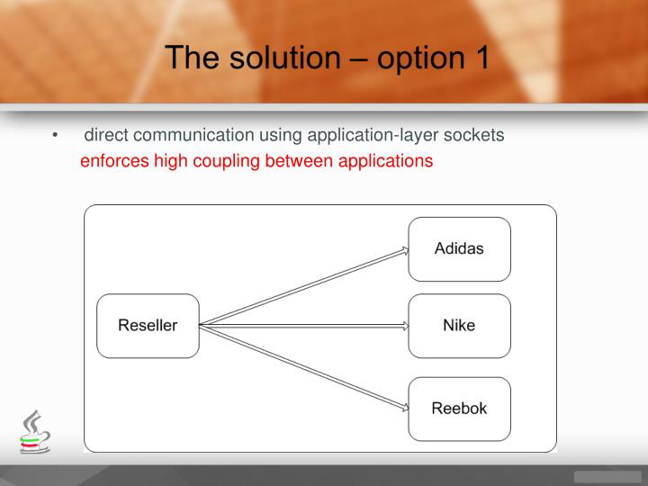 direct communication using application-layer sockets