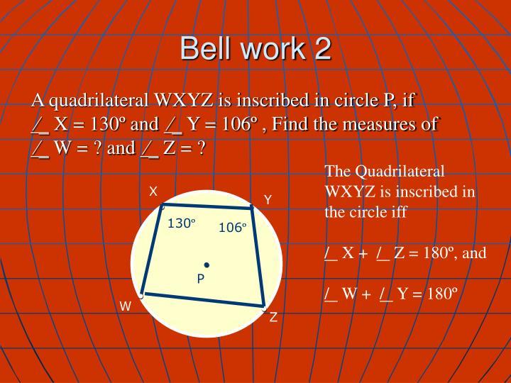 Bell work 2