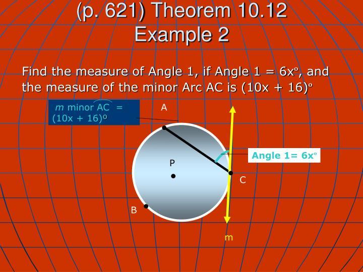 (p. 621) Theorem 10.12