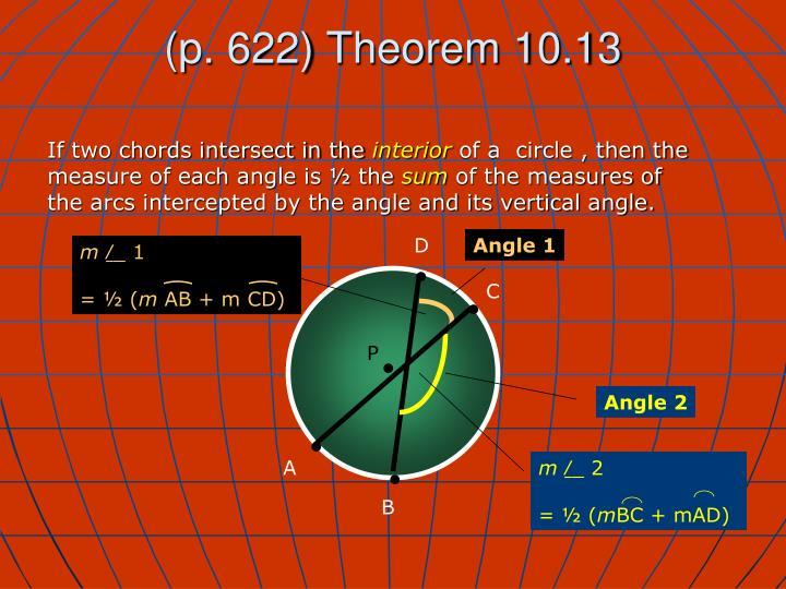 (p. 622) Theorem 10.13