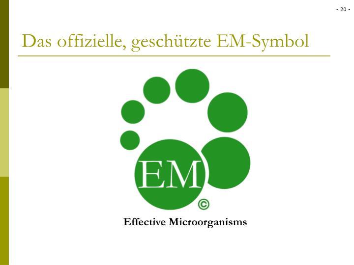 Das offizielle, geschützte EM-Symbol