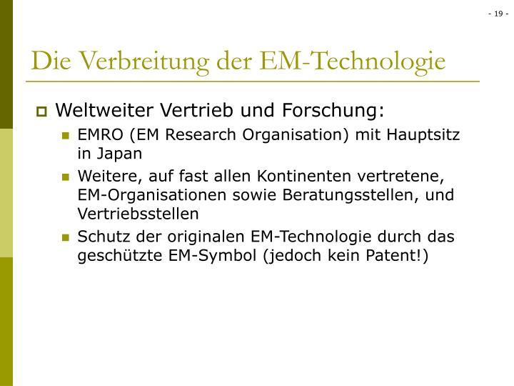 Die Verbreitung der EM-Technologie
