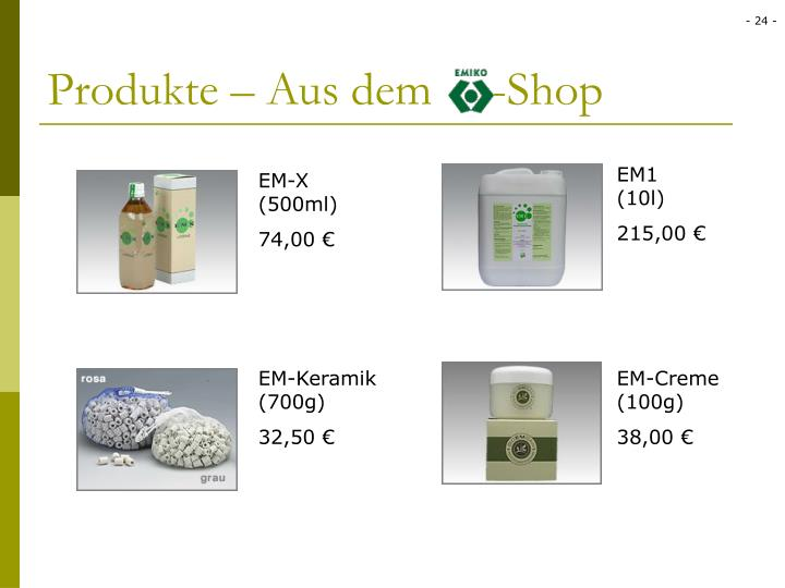 Produkte – Aus dem     -Shop