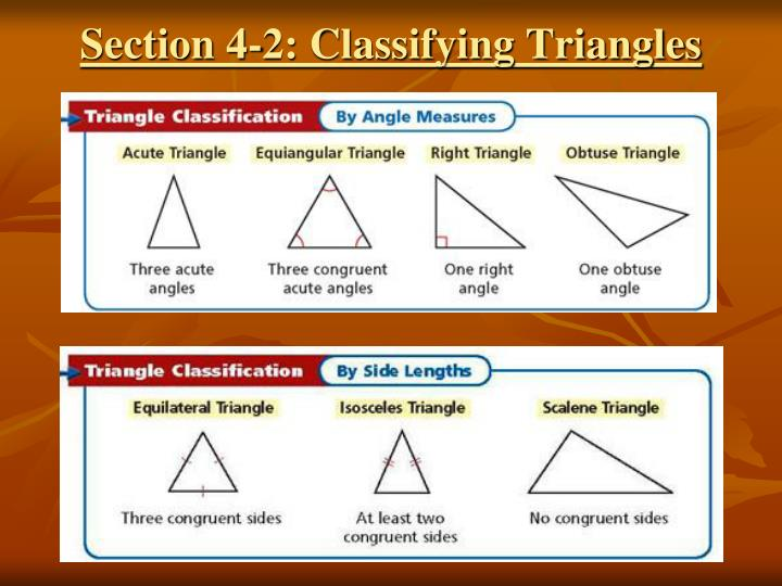 Section 4-2: Classifying Triangles