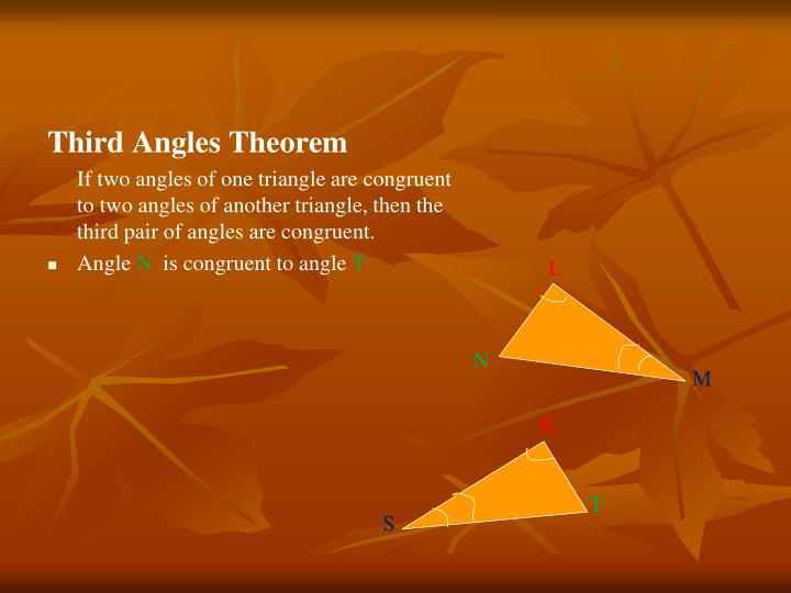 Third Angles Theorem