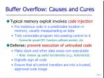 buffer overflow causes and cures