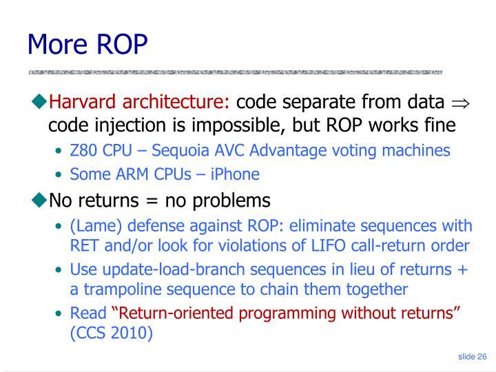More ROP