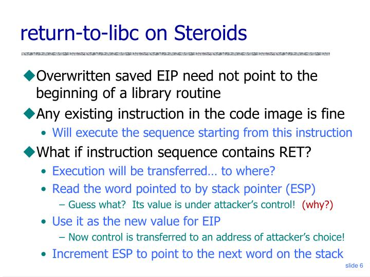 return-to-libc on Steroids