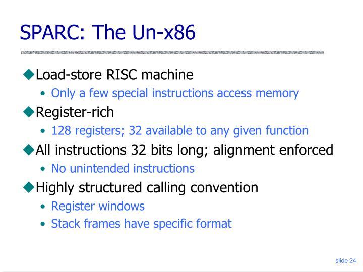 SPARC: The Un-x86