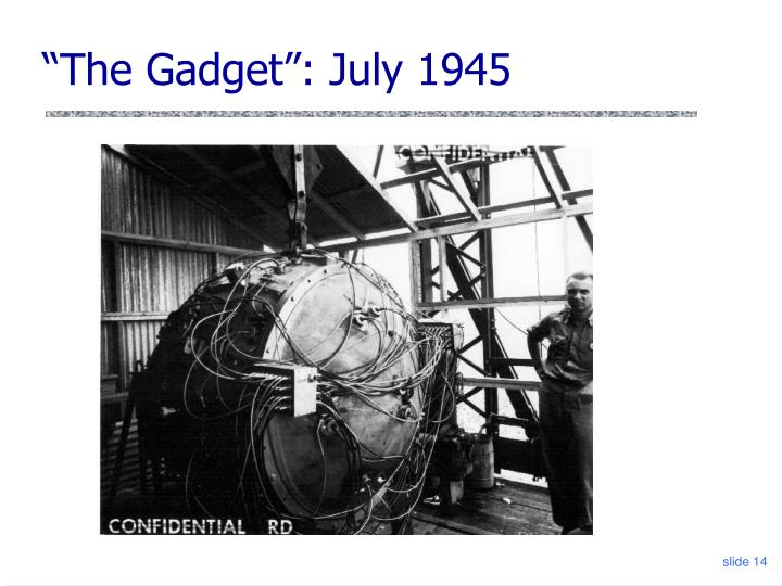 """The Gadget"": July 1945"