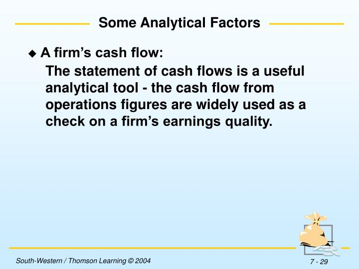 Some Analytical Factors