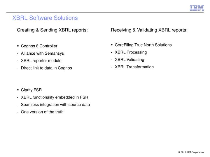 XBRL Software Solutions