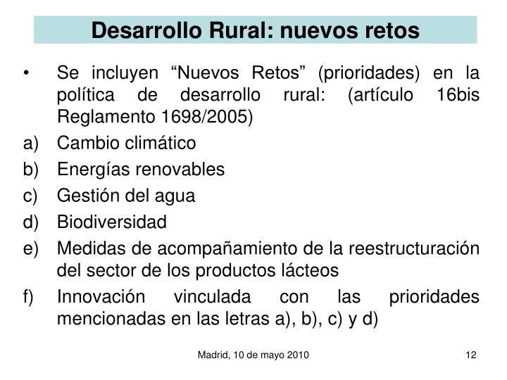 Desarrollo Rural: nuevos retos