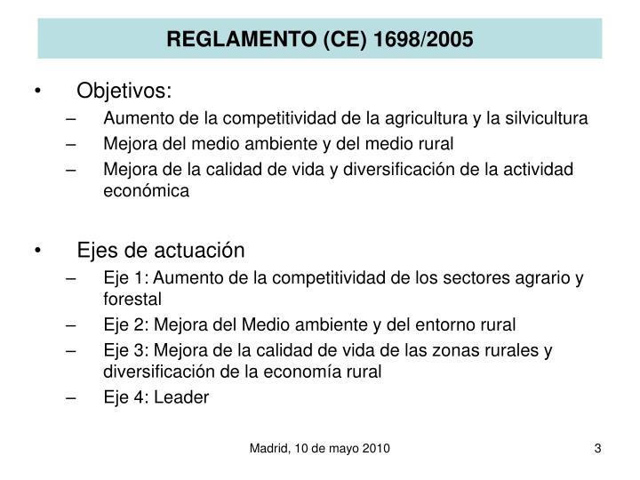 REGLAMENTO (CE) 1698/2005