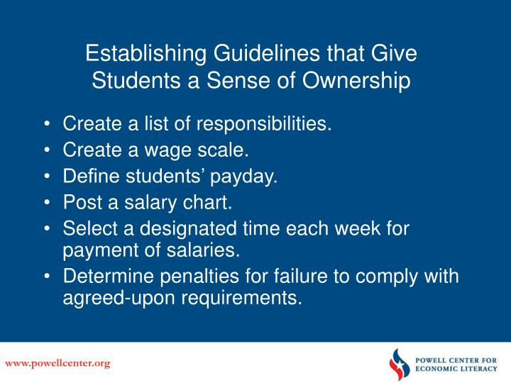 Establishing Guidelines that Give Students a Sense of Ownership